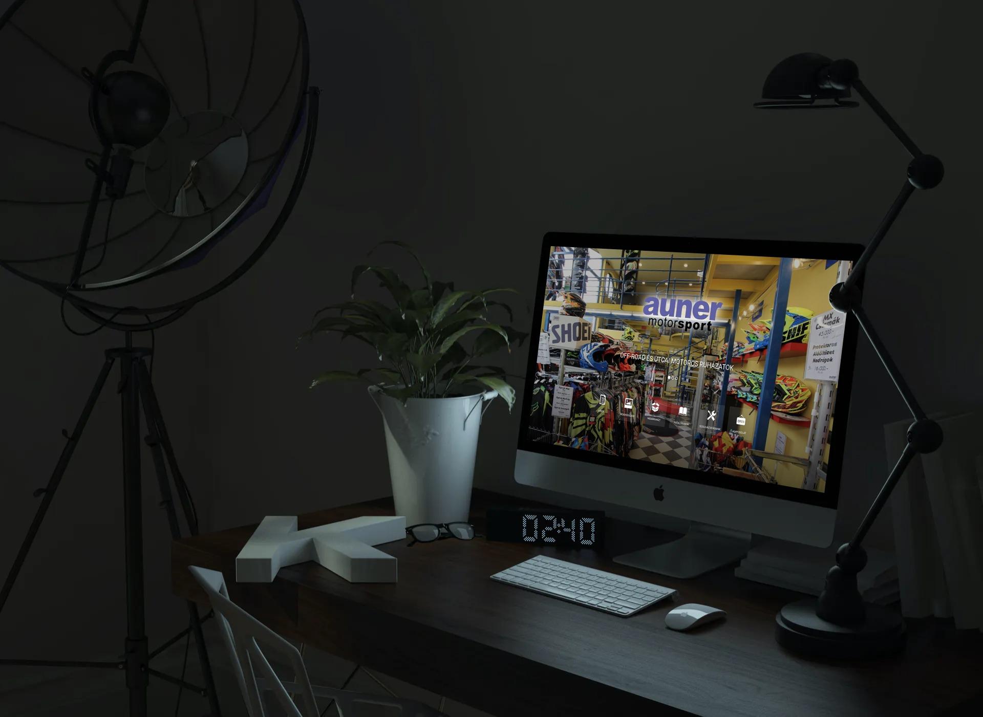 auner.hu weboldal megjelenése asztali PC-n, IMac-en