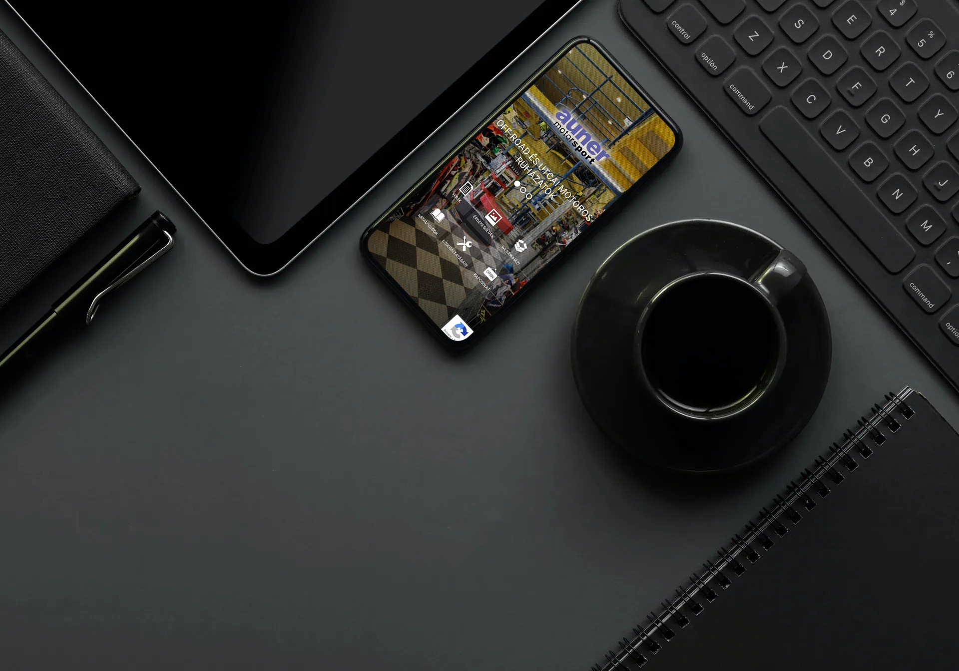 auner.hu weboldal megjelenése iPhone-on