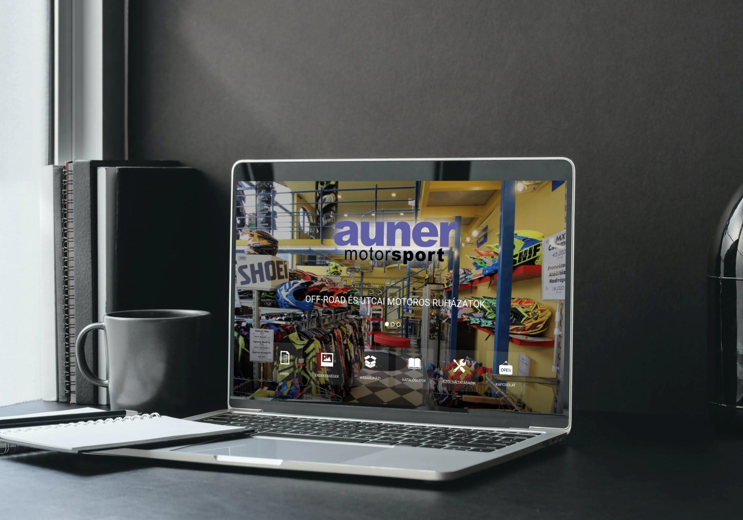 auner.hu weboldal megjelenése notebookon