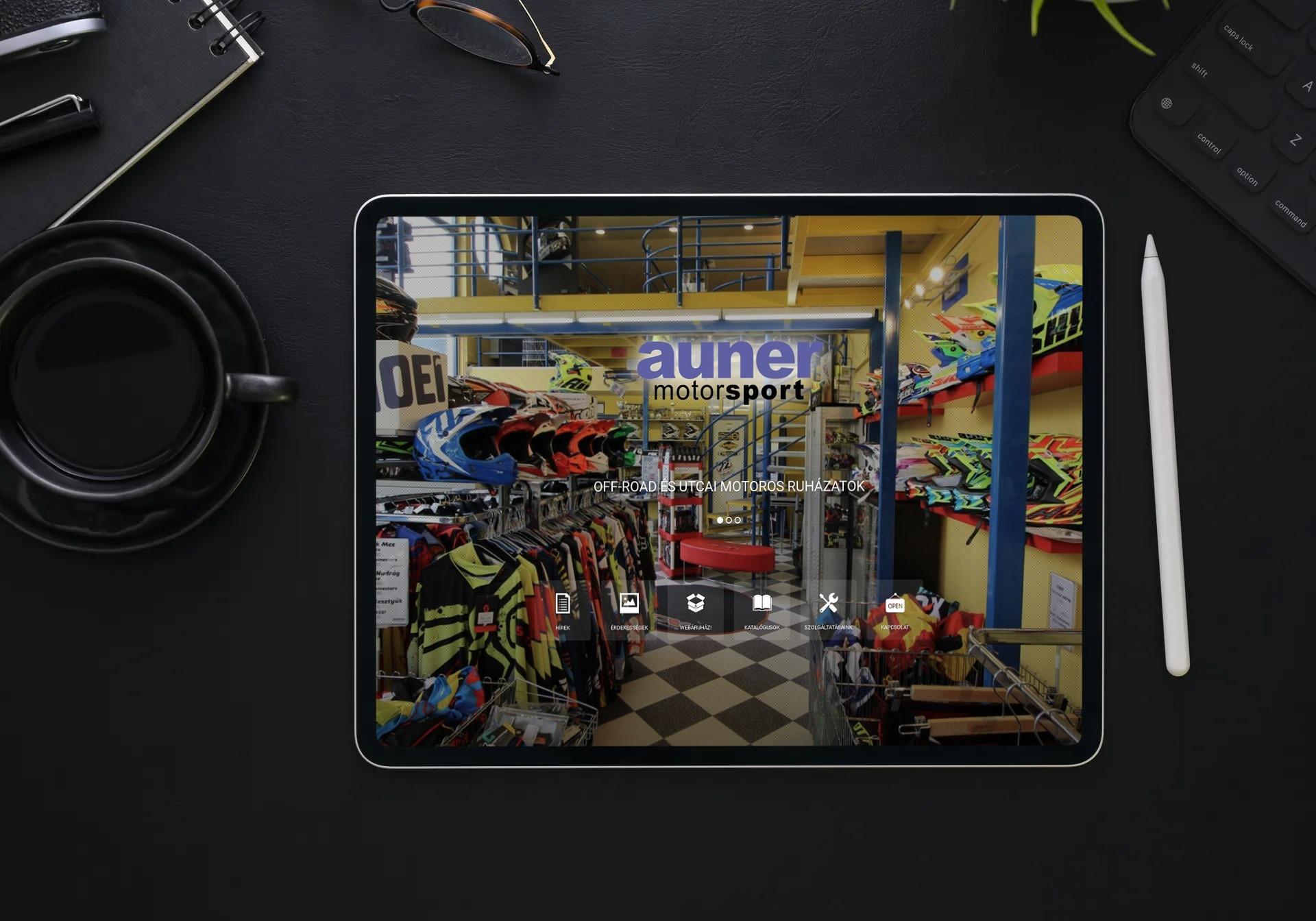 auner.hu weboldal megjelenése iPad-en