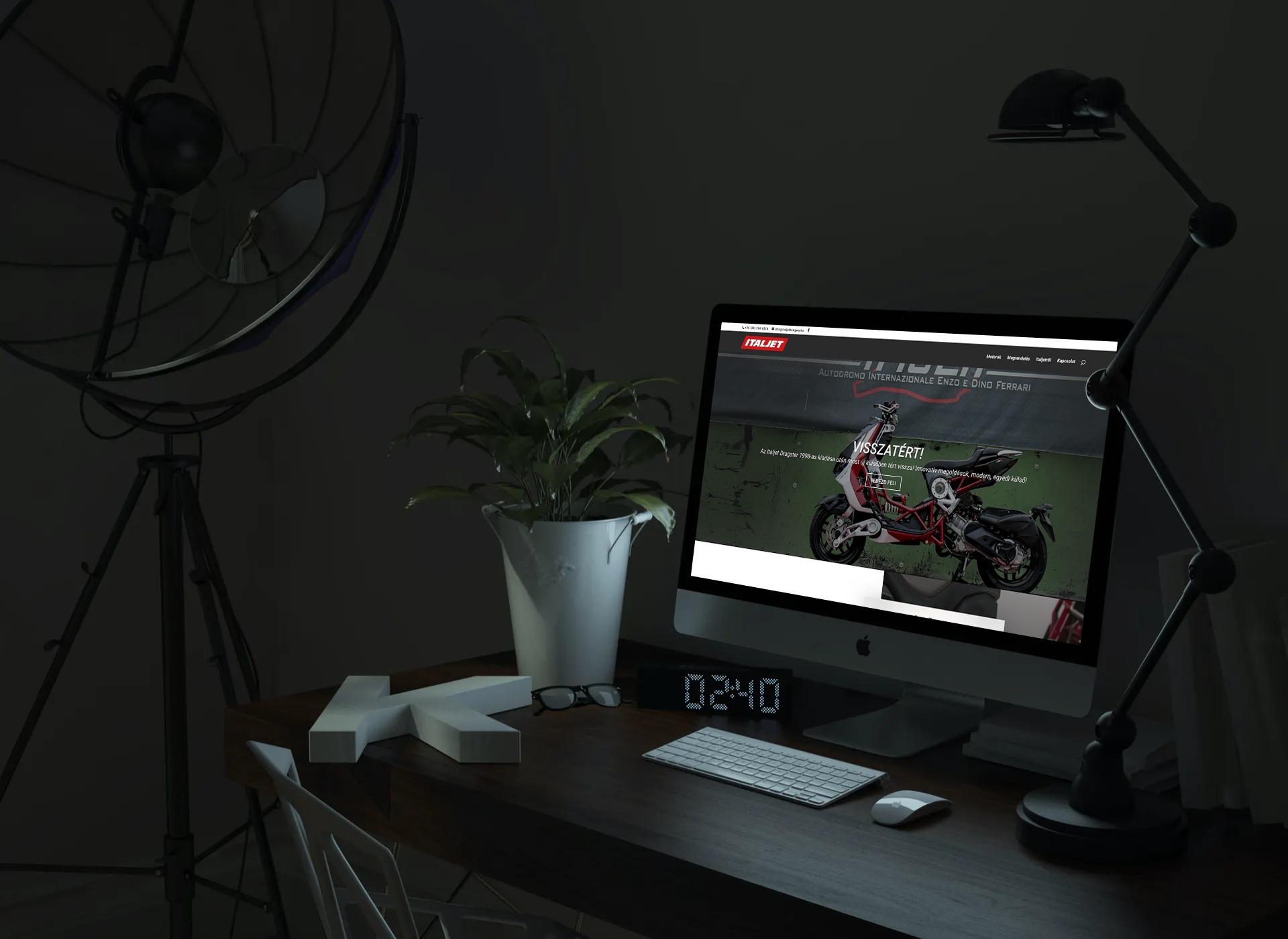 Italjethungary.hu weboldal megjelenése asztali PC-n, IMac-en
