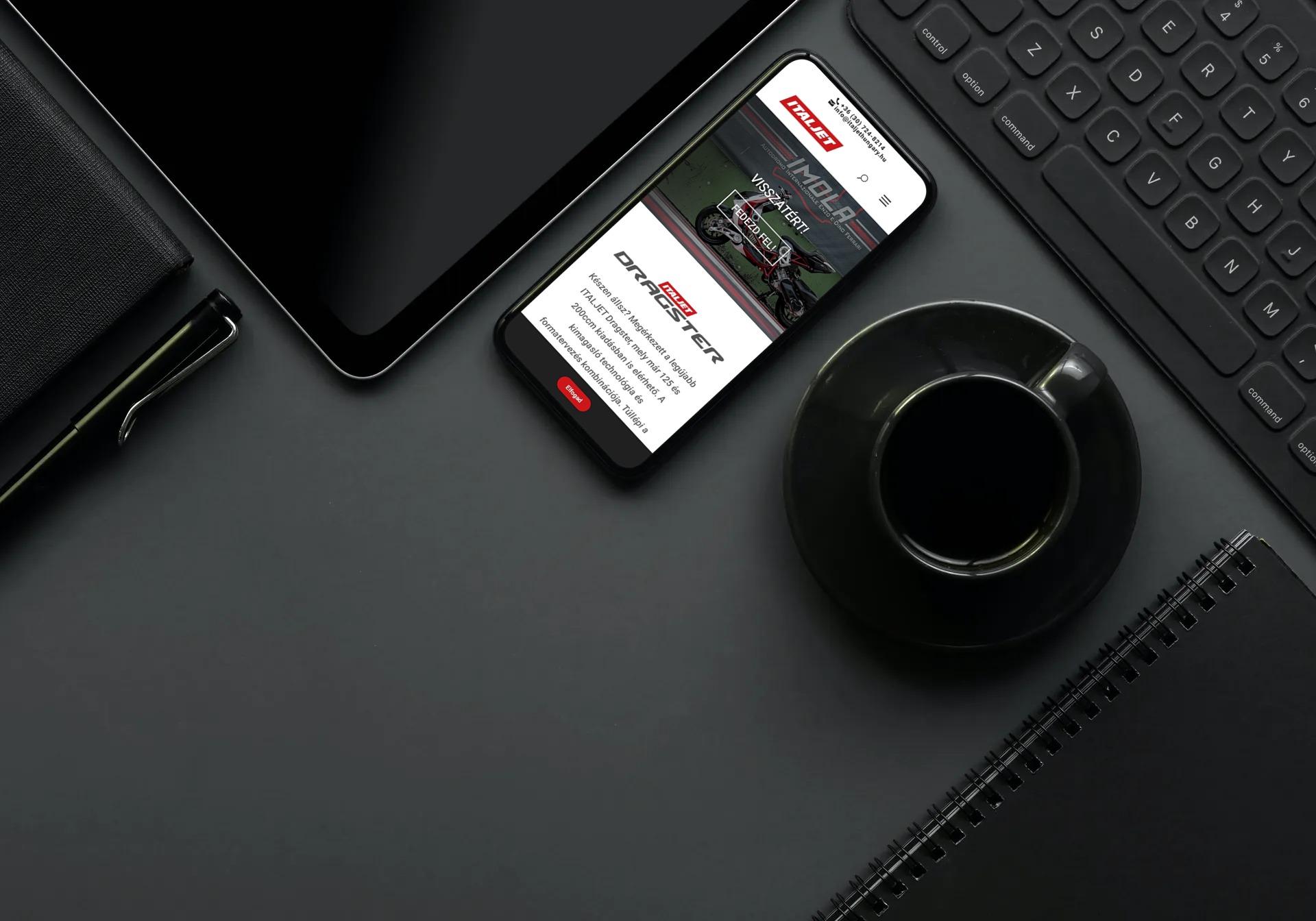 Italjethungary.hu weboldal megjelenése iPhone-on
