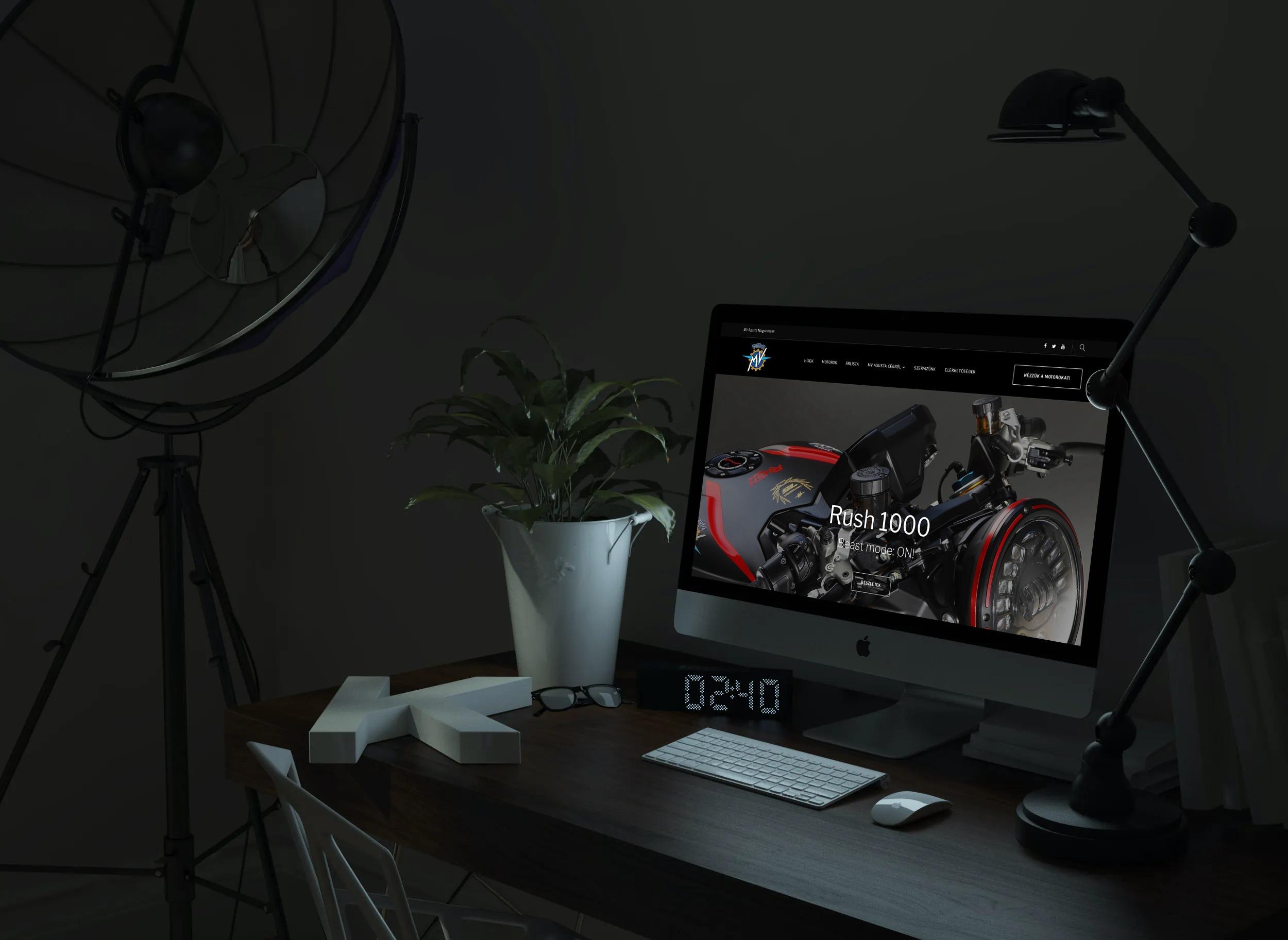 Mvagustahungary.hu weboldal megjelenése asztali PC-n, IMac-en