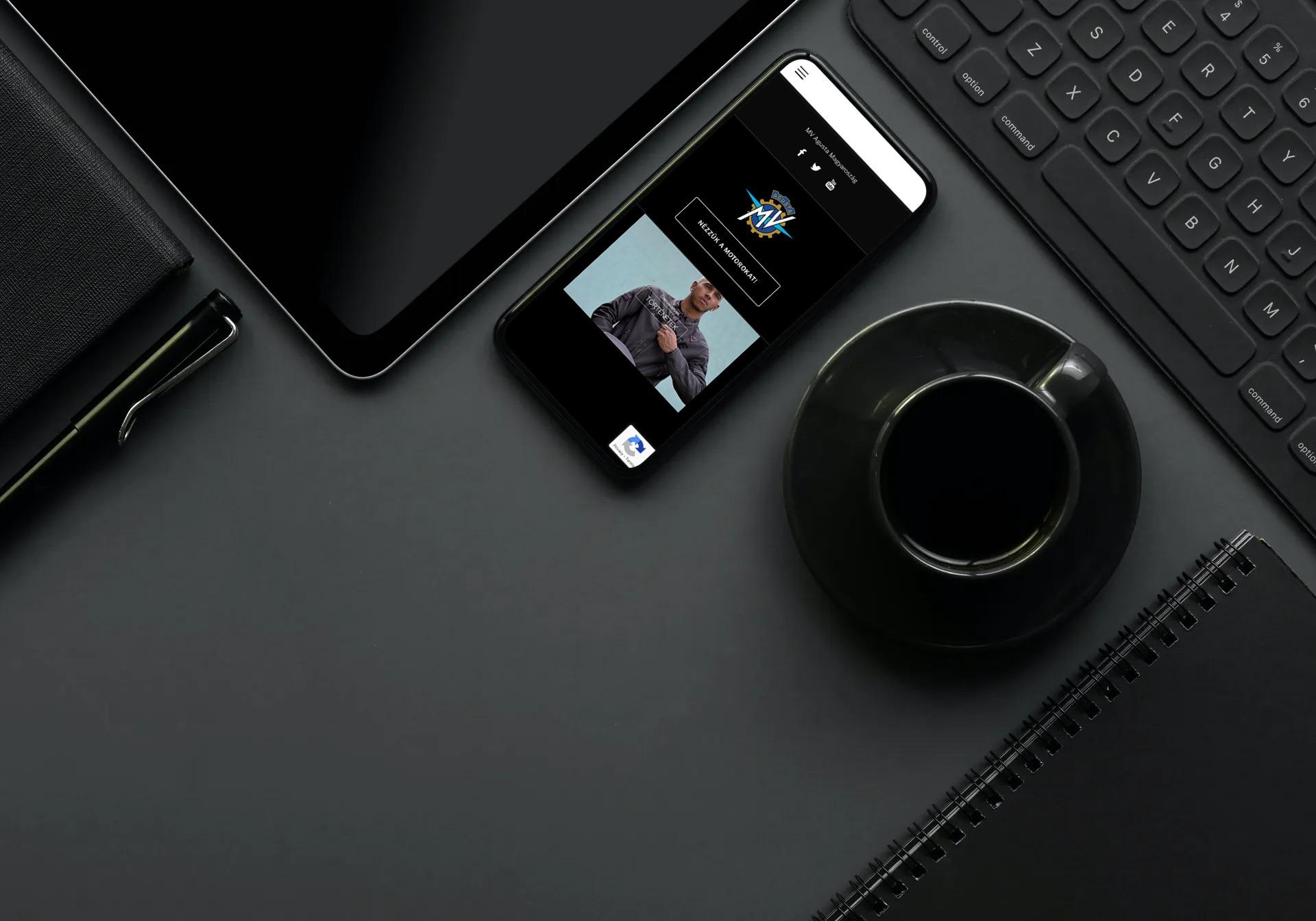 Mvagustahungary.hu weboldal megjelenése iPhone-on